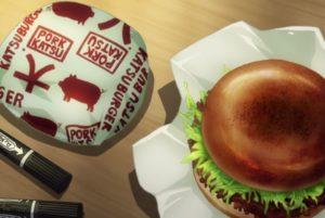 Girls und Panzer, cutlet, hamburger
