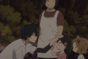 Barakamon, patting the head