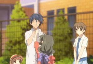 Clannad After Story, patting the head