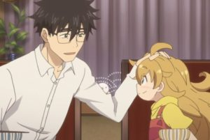 Sweetness and Lightning, patting the head